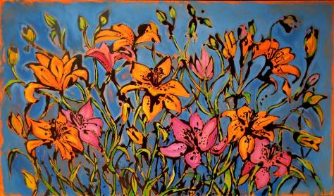Lilium1 - 120x70 - acrylic and glaze on canvas - 2009