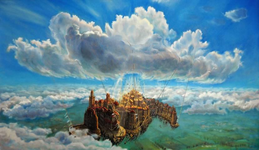 il respiro dell'eremo - 27x35 -oil on canvas - 2010