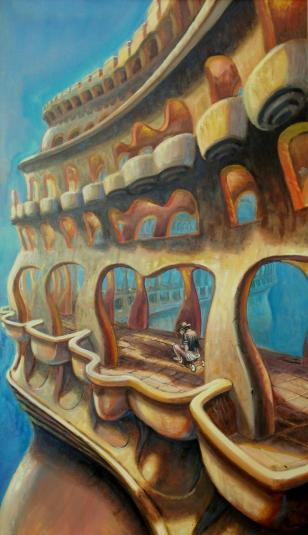 percorso inconscio - 70x120 -oil on canvas - 2012