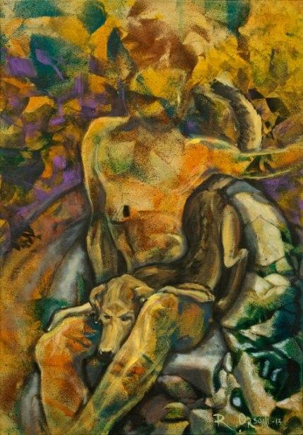 una poltrona per due - 35x50 -mixed media on canvas - 2013