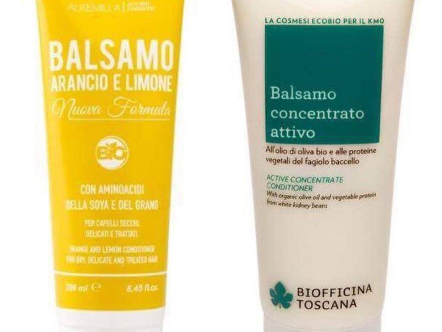 Balsamo bio per capelli ricci: Alkemilla e Biofficina Toscana a confronto