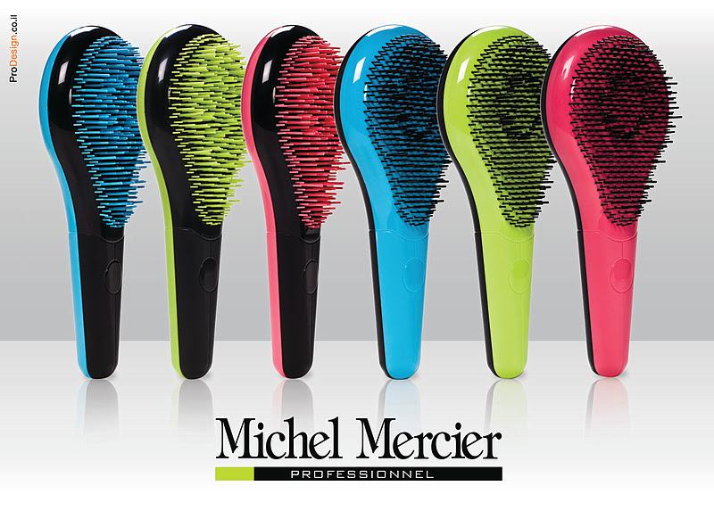 Spazzola scioglinodi per capelli ricci Michel Mercier
