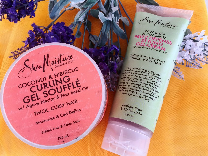 Gel Shea Moisture per capelli ricci: Curling gel soufflé o Frizz defénse styling gel cream?