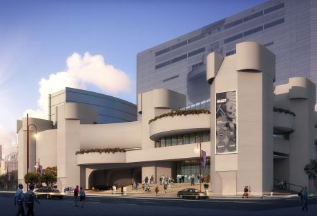 Architectural rendering of the Alley Theatre's new building.