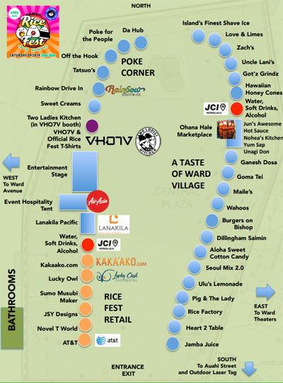 Rice Fest 2019 Map