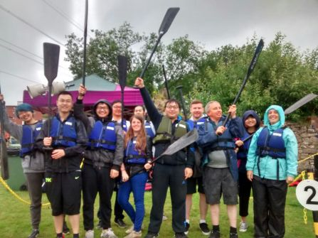 Team Ricefield ready for the Dragon Boat race