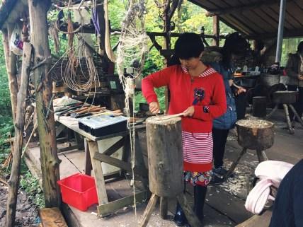 Ricefield Volunteer Carving Wooden Spoon
