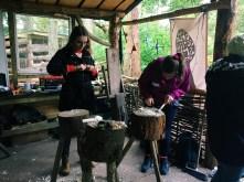 Ricefield Volunteers Wood Carving
