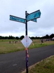 Kite decoration in Bellahouston Park