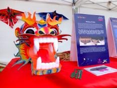 Dragon kite on display at Glasgow Kite Festival