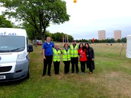 Volunteers and St Andrews First Aid