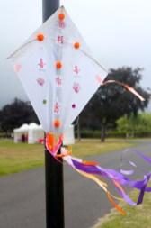 Kite decoration on lamp post