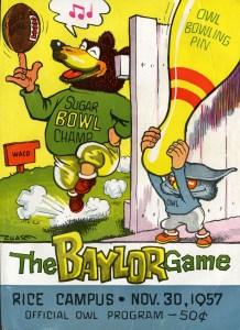Football 1957 Baylor cover