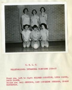 Women's volleywallball 1956