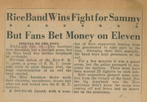 Band fights for Sammy late 1930s