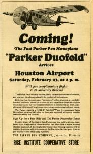 1929 Airplane Thresher Ad