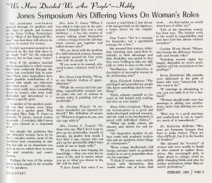 Women's Symposium article 1963