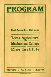 A&M football program 1914