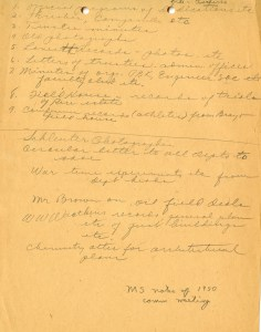 Archives meeting notes 1950