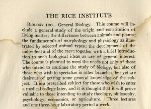 Biology 100 1916 general announcements