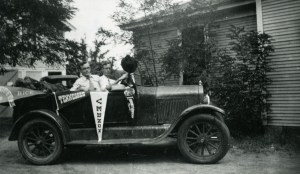 Charles and Robert Blair leaving Vernon for Rice c1930