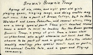 Brownie troop 1972
