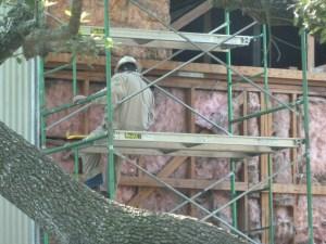 Dismantling the shack April 2014