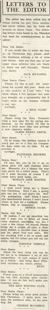 Dear Santa December 20 1929