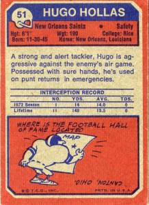 Card Hugo Hollas verso
