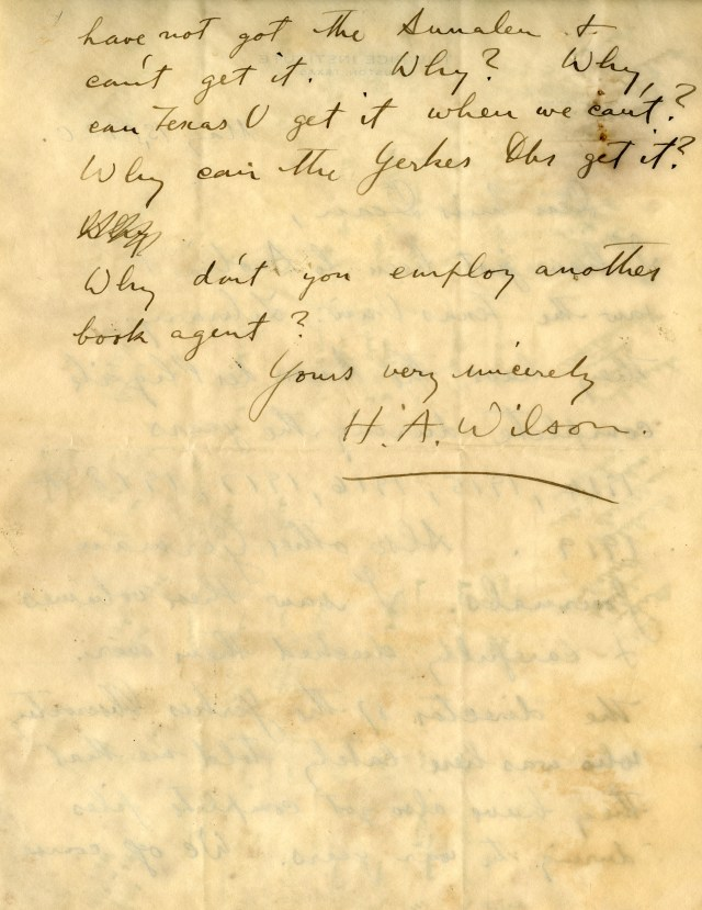 New HA Wilson library letter 2