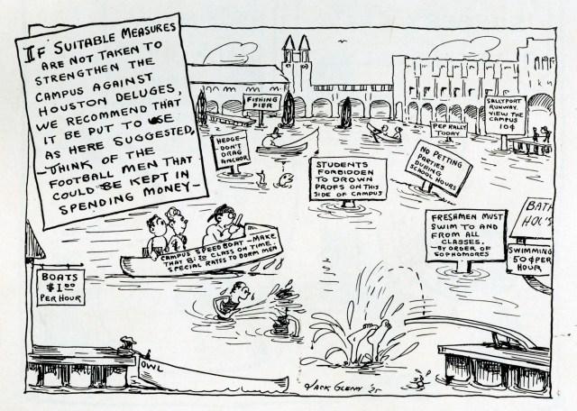 Flood Cartoon 1926 Campanile