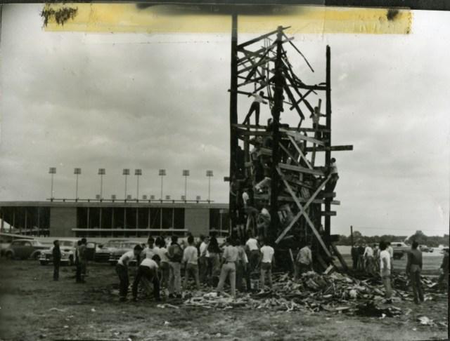 Bonfire fall 1954 Dearmond