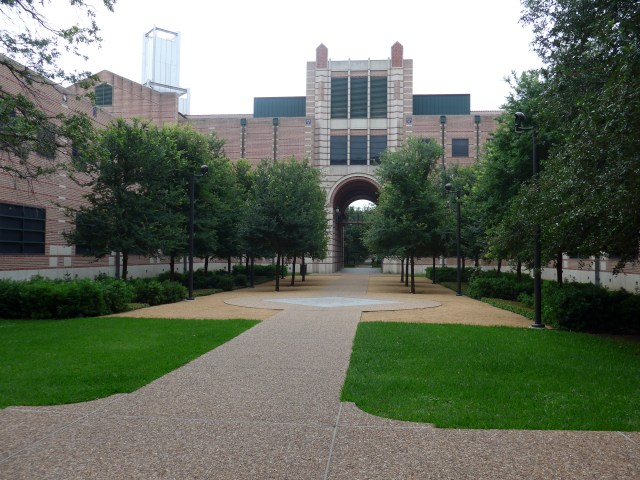 George R. Brown courtyard 2015