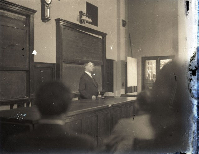 Glass EOL speaking in Physics c1930