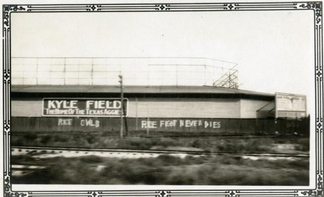 Kyle Field c1931 Rice Fight