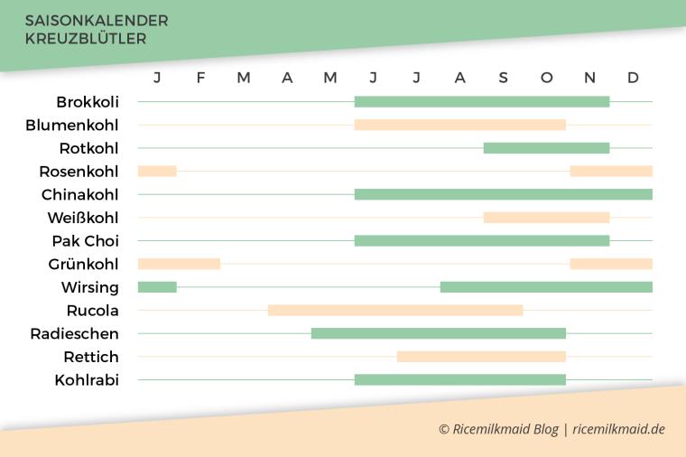 Lerne die pflanzichen Superhelden kennen: Kreuzblütler. Was sie können, wie du sie am besten zubereitest und in welcher Saison du sie am besten kaufst, findest du jetzt auf dem Ricemilkmaid Blog. Klick dich rüber und speichere dir direkt den Saisonkalender ab.