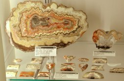 Agate on exhibit at the Rice Northwest Museum of Rocks and Minerals.