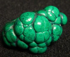 Raw mined malachite - special exhibit at Rice Northwest Rock and Mineral Museum.