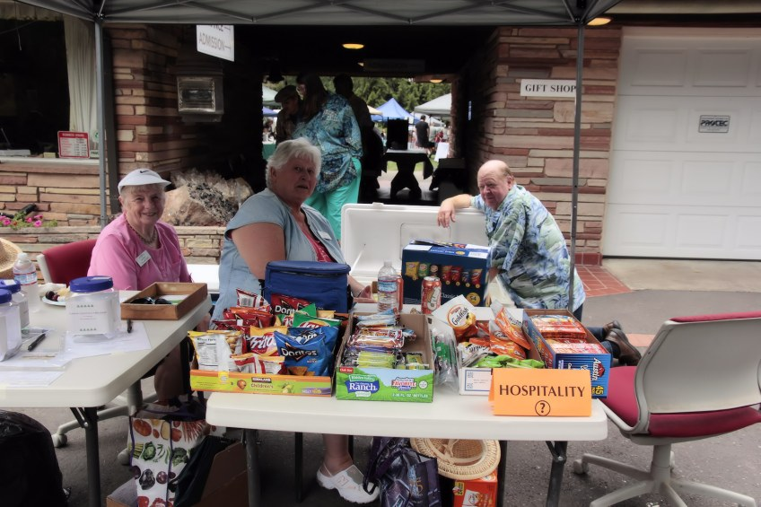 Vendors and shoppers at Summer Fest.