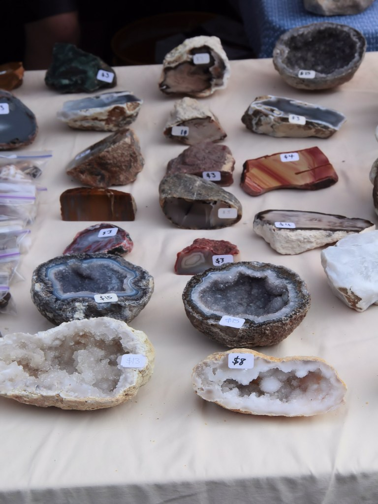 Geode half on display at vendor's booth.