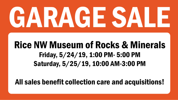 2019 May Garage Sale