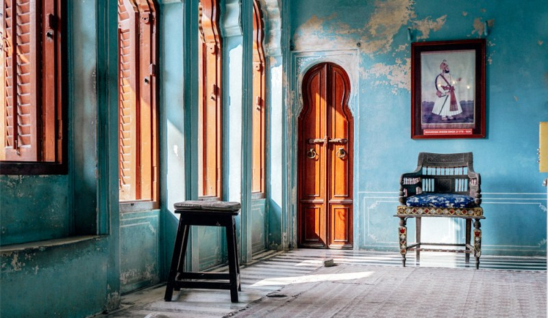 Udaipur City Palace blue room queens chambers