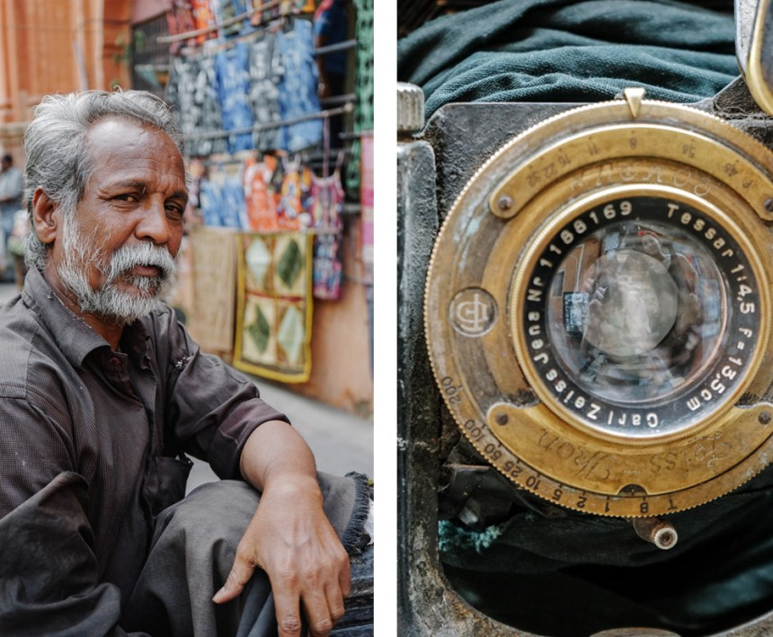 Jaipur Tikam Chand with antique camera