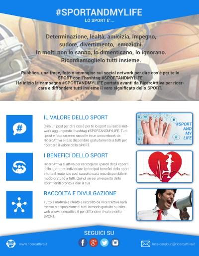Manifesto Lo sport è... #SPORTANDMYLIFE