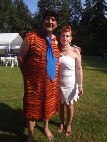 Fred and Wilma Flintstone at the Rice Northwest Rock and Mineral Museum