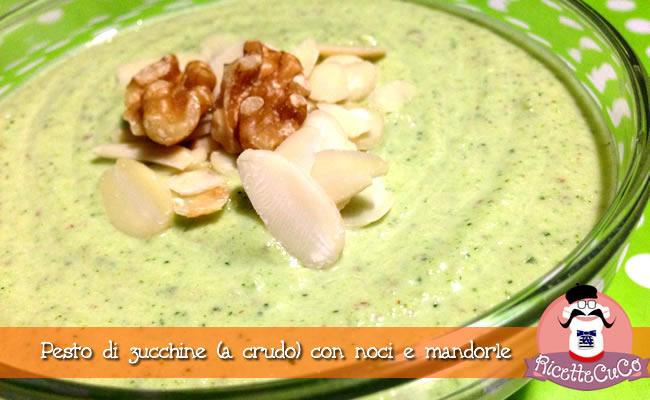 pesto zucchine crudo noci mandorle svezzamento bambini monsieur cuisine moncu moulinex cuisine companion ricette cuco bimby