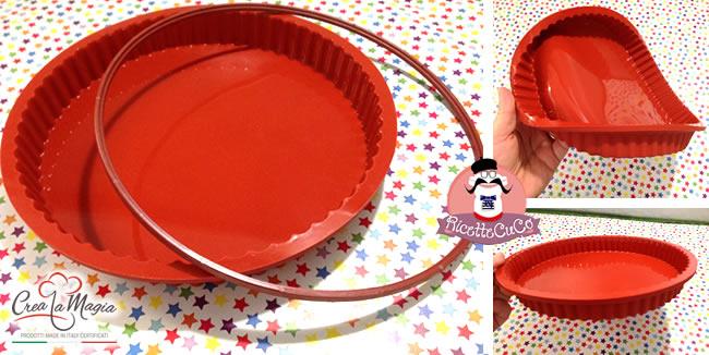 stampo crostata crea la magia stampi silicone torte formine dolci salati monsieur cuisine moulinex cuisine companion ricette cuco bimby ricettecuco