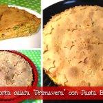 """Torta salata """"Primavera"""" con pasta brise' light con il Cuisine Companion"""