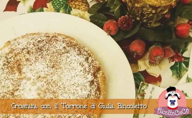 Crostata con il Torrone di Giulia Bincoletto ricette natalizie natale ricetta mdp monsieur cuisine moncu moulinex cuisine companion ricette cuco bimby multi kcook