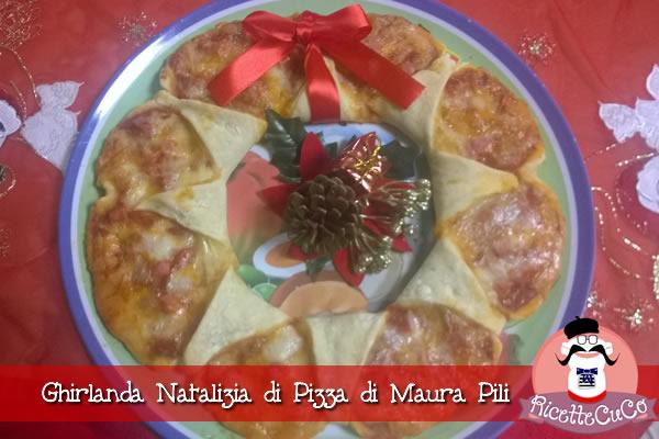 ghirlanda natalizia di pizza corona pizza Maura Pili ricette natalizie menu secondo pesce macchina del pane ricetta mdp monsieur cuisine moncu moulinex cuisine companion ricette cuco bimby kcook